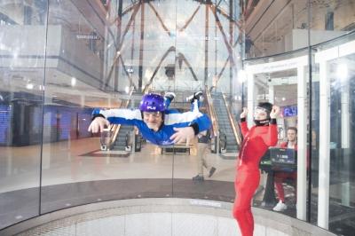 Une soufflerie sportive pour la chute libre indoor à Saint-Priest