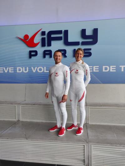 Freefly - Freefly : Grégory Crozier et Karine Joly, le duo peaufine son show dans la soufflerie